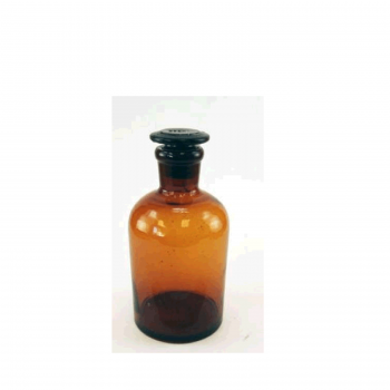 borosilicate narrow mouth amber reagent bottle
