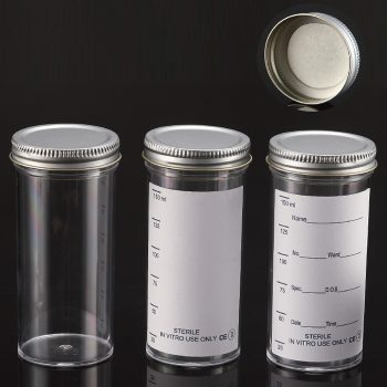 150ml Containers, METAL Flowed Seal Inert Liner Cap