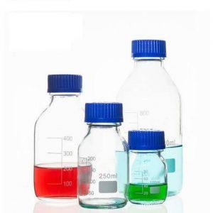 Reagent bottles (media), blue screw cap, GL45